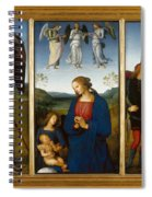 Three Panels From An Altarpiece  Certosa  Spiral Notebook