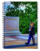 Tomb Of The Unknown Soldier Painting Spiral Notebook