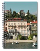 Town In The Shore Of Lake Como Spiral Notebook