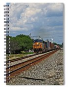 Train In Motion Spiral Notebook