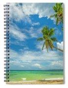 Tropical Beach, Siquijor Island Spiral Notebook