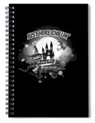 tshirt Just Here Chillin grayscale Spiral Notebook