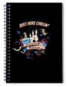 tshirt Just Here Chillin invert Spiral Notebook