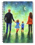 Twilight Walk With Mom And Dad Spiral Notebook