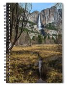 Upper And Lower Yosemite Falls Spiral Notebook