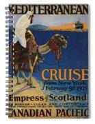 Vintage Poster -  Mediterranean Cruises Spiral Notebook