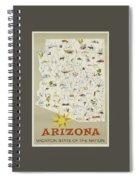 Vintage Travel Poster - Arizona Spiral Notebook