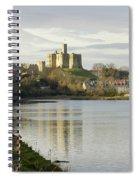 Warkworth Castle And River Aln Spiral Notebook