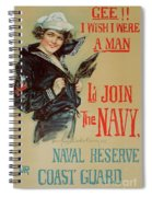 Wartime Propaganda Poster Spiral Notebook
