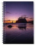 Washington Coast Last Light Spiral Notebook