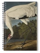 Whooping Crane  From The Birds Of America  Spiral Notebook