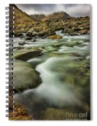 Winter River Rapids Spiral Notebook