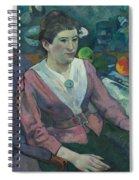 Woman In Front Of A Still Life By Cezanne Spiral Notebook