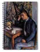 Young Man And Skull Spiral Notebook