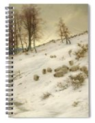 A Flock Of Sheep In A Snowstorm  Spiral Notebook