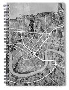 New Orleans Street Map Spiral Notebook