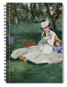 The Monet Family In Their Garden At Argenteuil  Spiral Notebook