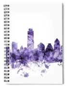 Austin Texas Skyline Spiral Notebook