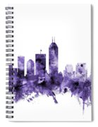 Indianapolis Indiana Skyline Spiral Notebook