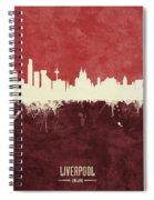 Liverpool England Skyline Spiral Notebook