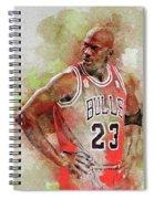 Michael Jeffrey Jordan Spiral Notebook