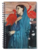 Young Woman With Ibis  Spiral Notebook