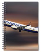 Ryanair Boeing 737-8as Spiral Notebook