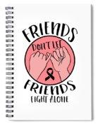 Breast Cancer Awareness Art For Warrior Women Light Spiral Notebook