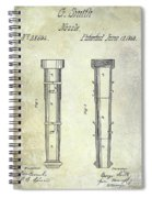 1860 Fire Hose Nozzle Spiral Notebook