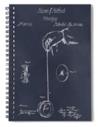 1866 Yo-yo Whirligig Blackboard Patent Print Spiral Notebook