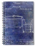 1870 Beer Preserving Patent Blue Spiral Notebook
