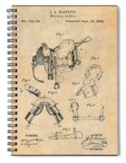 1880 Military Saddle Patent Print Antique Paper Spiral Notebook