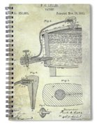 1881 Beer Faucet Patent Spiral Notebook