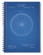 1885 Bicycle Wheel Patent Spiral Notebook