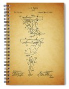 1885 Plow Patent Spiral Notebook