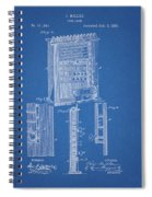 1885 Pool Rack Patent Spiral Notebook
