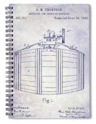 1888 Whiskey Or Beer Barral Patent Blueprint Spiral Notebook