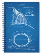 1889 Hopkins Fireman's Hat Blueprint Patent Print Spiral Notebook