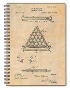 1891 Billiard Ball Rack Patent Print Antique Paper Spiral Notebook