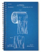 1891 Toilet Paper Roll Blueprint Patent Print Spiral Notebook