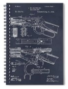 1894 Winchester Lever Action Rifle Blackboard Patent Print Spiral Notebook