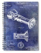 1896 Fire Hose Spray Nozzle Patent Blue Spiral Notebook