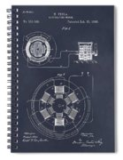 1896 Tesla Alternating Motor Blackboard Patent Print Spiral Notebook