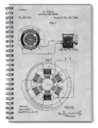 1896 Tesla Alternating Motor Gray Patent Print Spiral Notebook