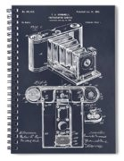 1899 Photographic Camera Patent Print Blackboard Spiral Notebook