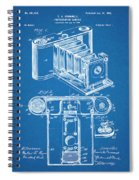 1899 Photographic Camera Patent Print Blueprint Spiral Notebook
