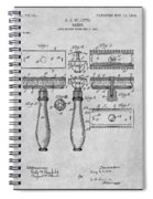 1901 Gillette Safety Razor Gray Patent Print Spiral Notebook