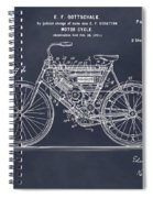 1901 Stratton Motorcycle Blackboard Patent Print Spiral Notebook