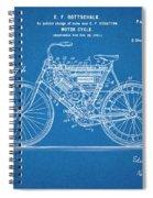 1901 Stratton Motorcycle Blueprint Patent Print Spiral Notebook