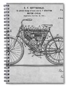 1901 Stratton Motorcycle Gray Patent Print Spiral Notebook